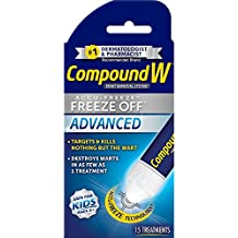 Compound W Advanced Accu-Freeze-Freeze Off-Wart Removal System - Effectively Treats Common and Plantar Warts in as Few as One Treatment - 15 Treatments-Safe & Easy for Kids Ages 4+
