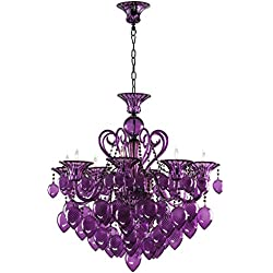 Cyan Design 02996 Bello Vetro Chandelier, Purple
