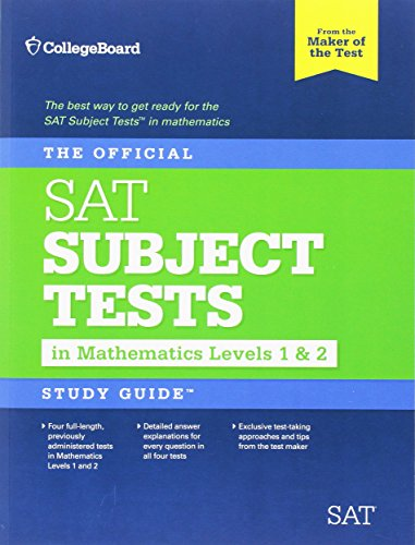 The Official SAT Subject Tests in Mathematics Levels 1 & 2 Study Guide (College Board Sat Math compare prices)