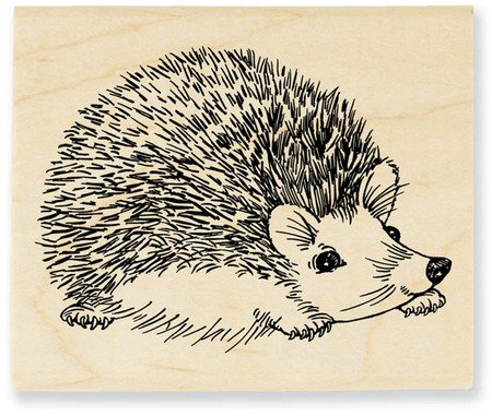 UPC 744019198098, Stampendous Wood Handle Stamp, Hedgehog Image