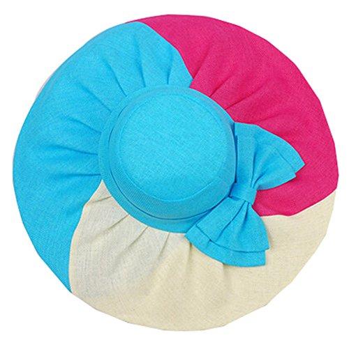 Creative Straw Flax Bow Wide Large Brim Summer Beach Sun Hat