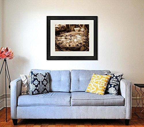 Ashley Framed Prints Fish Market Food, Wall Art Home Decoration, Sepia, 26x30 (frame size), AG6537628 by Ashley Framed Prints (Image #1)