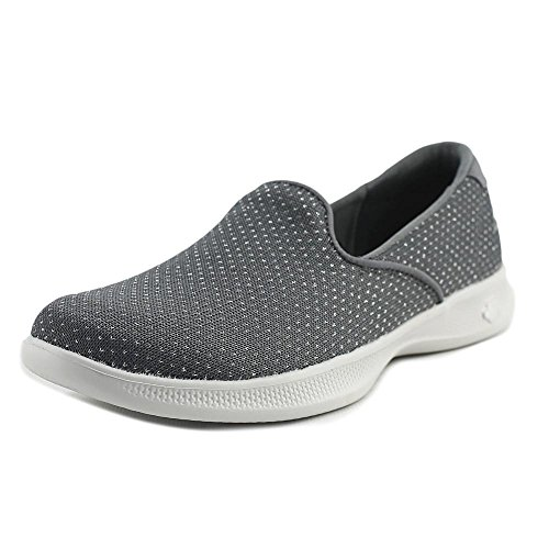 Skechers Womens Go Step Lite Glitz Slip Ons Charcoal B(M) US Charcoal