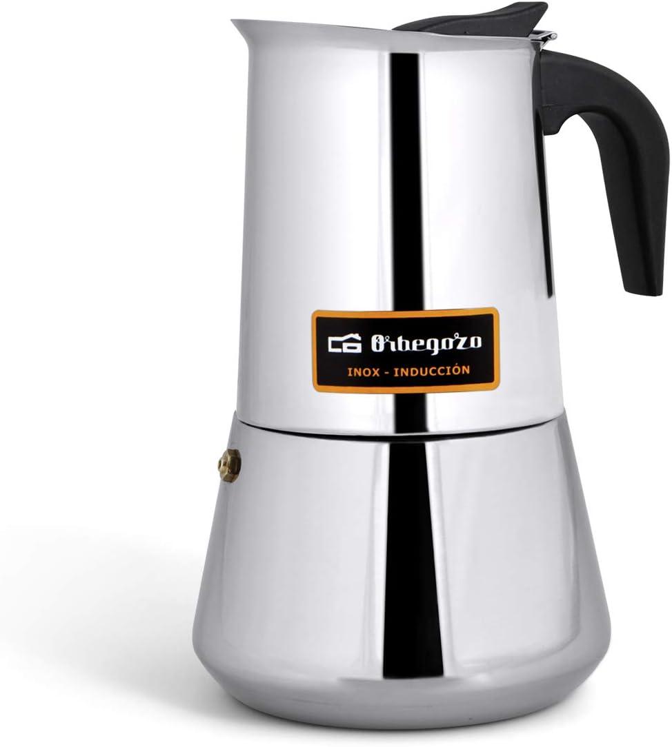 Orbegozo KFI 460 - Cafetera de acero inoxidable, 4 tazas: Amazon.es: Hogar