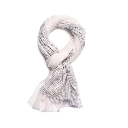 Yhjklm Pañuelo de Seda para Mujer Traje de Rayas Plisadas ...