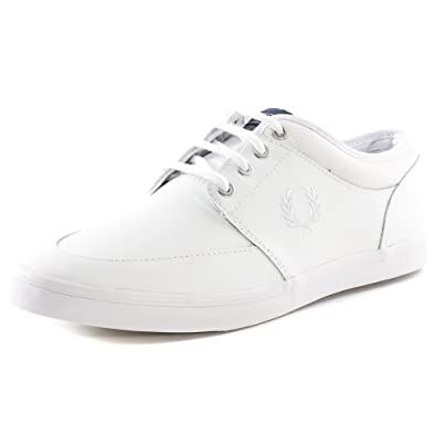 Fred Perry Stratford Leather Homme Baskets Mode Blanc