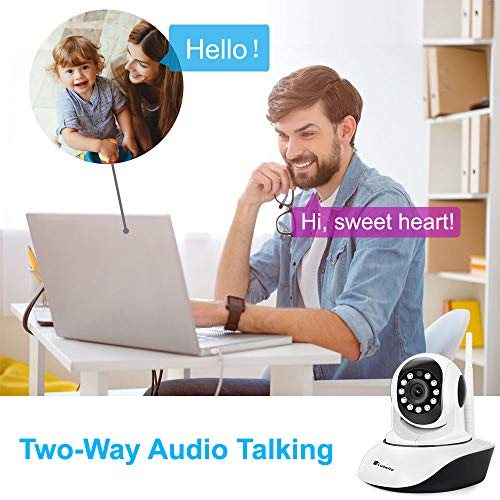Luowice IP Camera WiFi Wireless Security Camera Indoor Dome Pet Baby Monitor Pan Tilt Zoom 720p HD Night Vision CCTV Surveillance Camera Motion Detection Remote Visit with Phone Tablet PC
