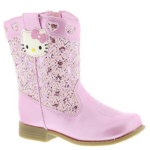Hello Kitty Girls Trixie Western Boot Pink 12 M US (Cowboy Girls Boot Pink)