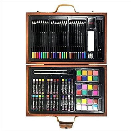 YChoice - Lápices de colores para colorear (79 piezas, incluye estuche de madera, estuche para lápices y estuches para artistas/fanáticos del arte): Amazon.es: Oficina y papelería