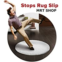 MRT SHOP Rug Grippers New 2018upgrade strengthened Best 16+4 extra pcs Anti Curling Rug Gripper. Keeps Your Rug in Place & Makes Corners Flat. Premium Carpet Gripper Renewable Gripper Tape