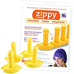Authentic Knitting Board KB (4) Piece Zippy Corners Set, One Size, Easy-Connect