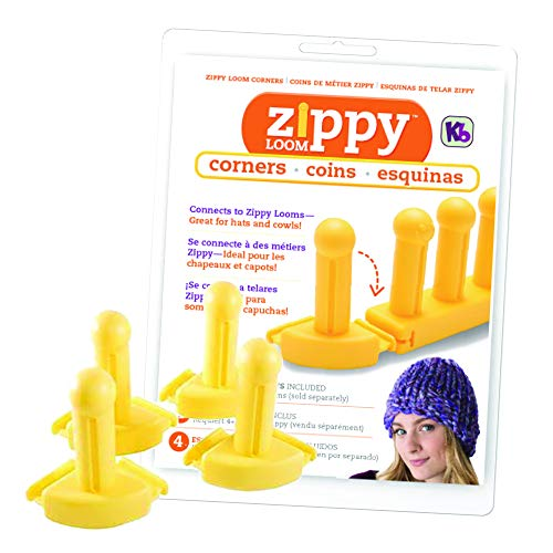 Authentic Knitting Board KB ((4) Piece Zippy Corners Set, One Size, -