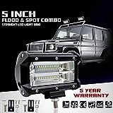 Meiyiu High Power Double Row LED Light Cross-Country Lamp Waterproof IP67 Enhanced Lighting 72W for SUV Truck 5Inch