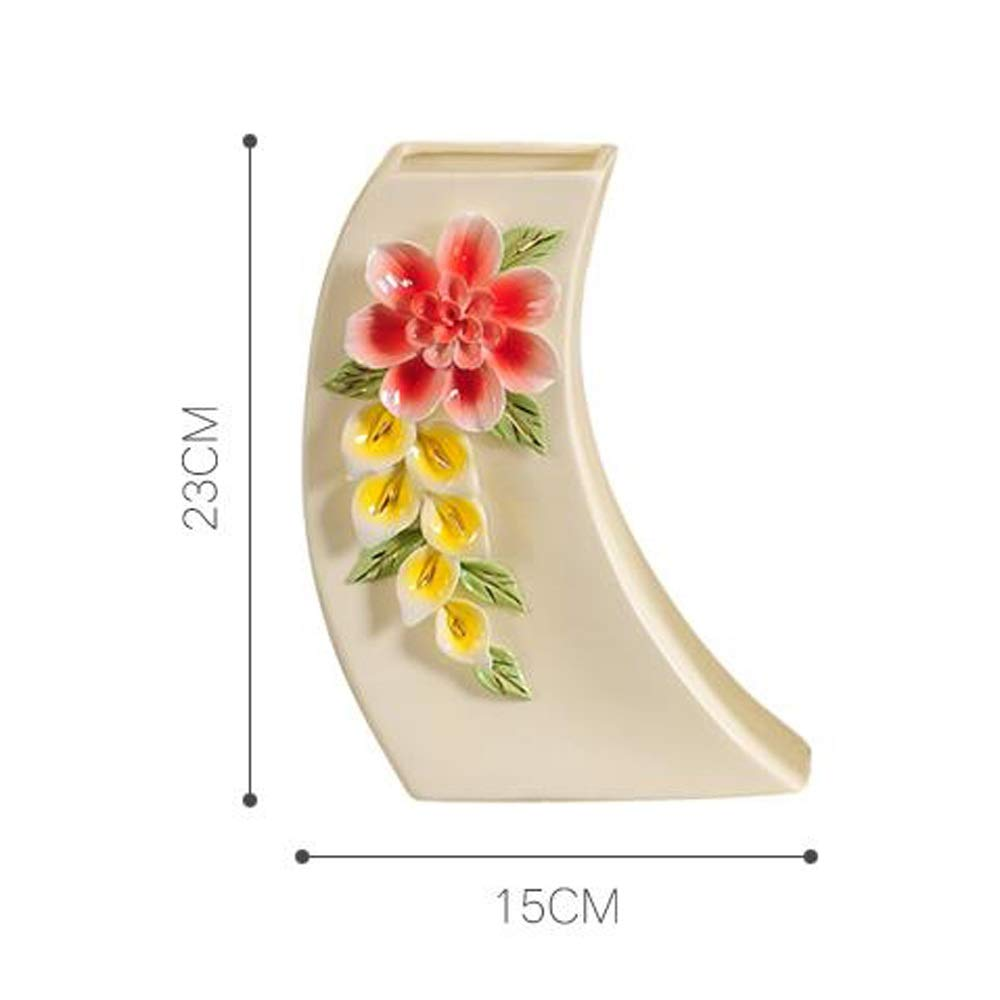 ヨーロッパスタイルのセラミック花瓶用花緑植物結婚式の植木鉢装飾ホームオフィスデスク花瓶花バスケットフロア花瓶良い材料 (サイズ さいず : L l) B07RLM62ML  L l