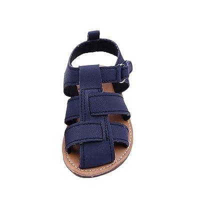 ???? Chaussures de Bébé Sandales Été Amlaiworld Sandales Bébé Garçon First Walkers Kid Chaussures Pour Enfants Garçons 0-18Mois (13/12-18Mois, Marine)