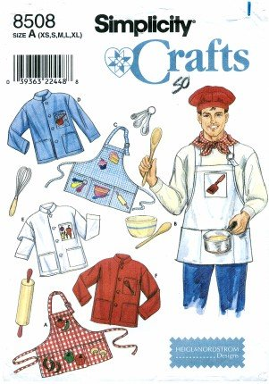 Amazon.com: Simplicity 8508 Crafts Sewing Pattern Mens & Womens Chef ...
