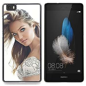 """Qstar Arte & diseño plástico duro Fundas Cover Cubre Hard Case Cover para Huawei Ascend P8 Lite (Not for Normal P8) (Sexy Girl 2"""")"""
