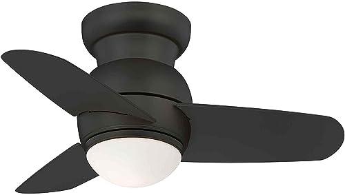 Minka-Aire F510L-CL Spacesaver 26 LED Ceiling Fan, Coal Finish
