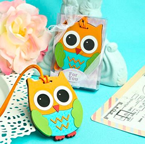 Owl Luggage Tags (Set of 2) Assorted Colors - No Color Choice
