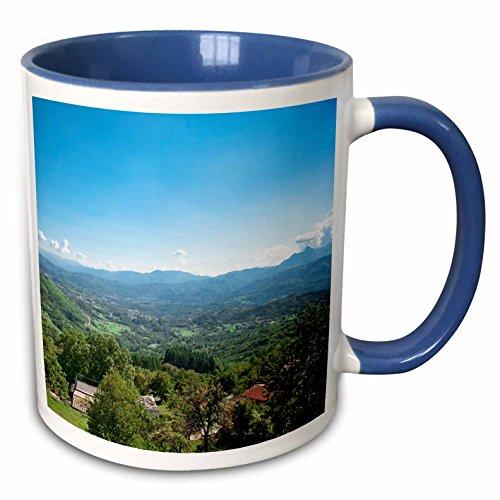 3dRose Danita Delimont - Tuscany - Homes, Castelnuovo di Garfagnana, Tuscany, Italy - EU16 IST0020 - Inti St. Clair - 11oz Two-Tone Blue Mug (mug_82110_6) - Tuscany Home Furnishings