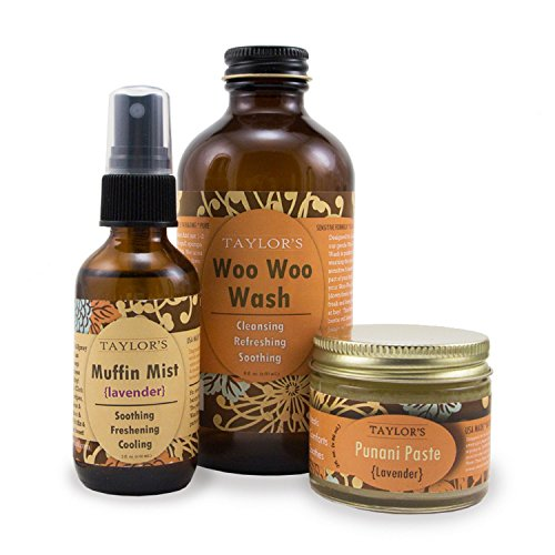 ELEVATED (by TAYLOR'S) Ladies Bestie Kit Woo Woo Wash, Muffin Mist, Punani Paste (Unscented)