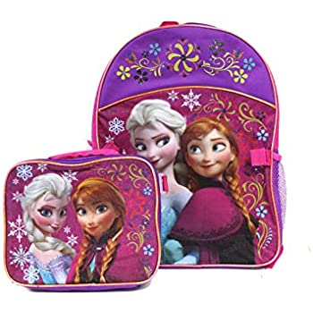 Disney Frozen Girls Backpack with Detachable Lunch Kit
