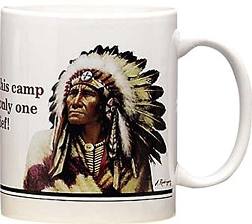 - Leanin' Tree Only One Chief- Set of 2 Ceramic Mugs