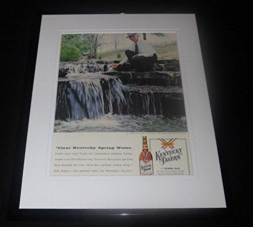 1958 Kentucky Tavern Whiskey Framed ORIGINAL Advertisement Frank -
