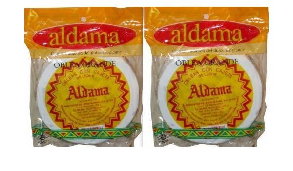 Amazon.com : Aldama Oblea Grande Milk Candy Dulce De Leche Mexican Candy 10 Big Pieces Sealed by aldama : Grocery & Gourmet Food