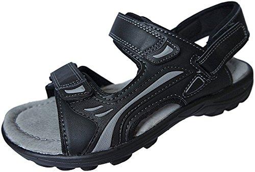 Trekking Outdoorsandale Sandalette Herren Sandale Nr Gr 41 46 Schwarz 9328 Schuhe xAtZwwq5d