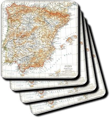 3dRose CST 174616 _ 3 Imagen de España y Portugal Mapa en Spanish ...