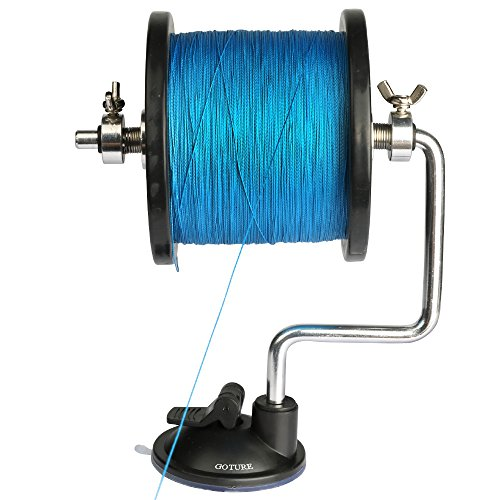 Goture Portable Fishing Line Spooler/Winding System Ultimate Line Winder Spooling Station Fishing Tool (Station Spooling)