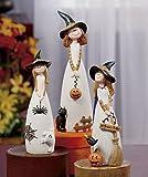 3 Piece Set of Ceramic Halloween Children Witches Figurines