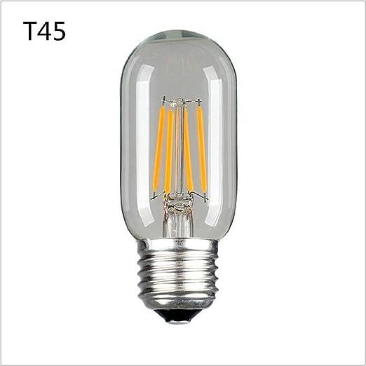 CHSUKHO 6 unids 4 W E27 T45 Edison LED bombilla filamento personalidad creativa retro ahorro de