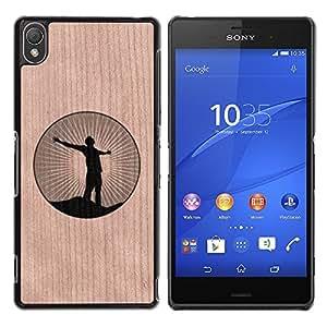 - Freedom Yoga Zen Calm Logo - - Funda Delgada Cubierta Case Cover de Madera FOR Sony Xperia Z3 BullDog Case