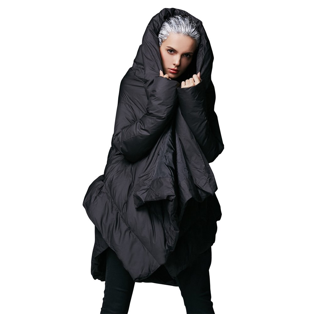 YVYVLOLO Women's Winter Jacket Cloak Loose Parka Warm Coat