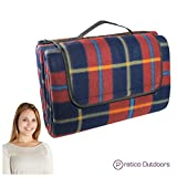 Extra Large Picnic & Outdoor Blanket with Water-Resistant Backing - Red 60 x 80 inches