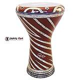 Gawharet El Fan 17'' Mother of Pearl Darbuka''Red Waves'' Darbuka Drum Percussion