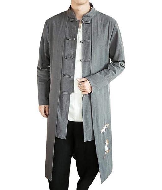 Andopa Bordado retrol capa de la chaqueta larga de la ...