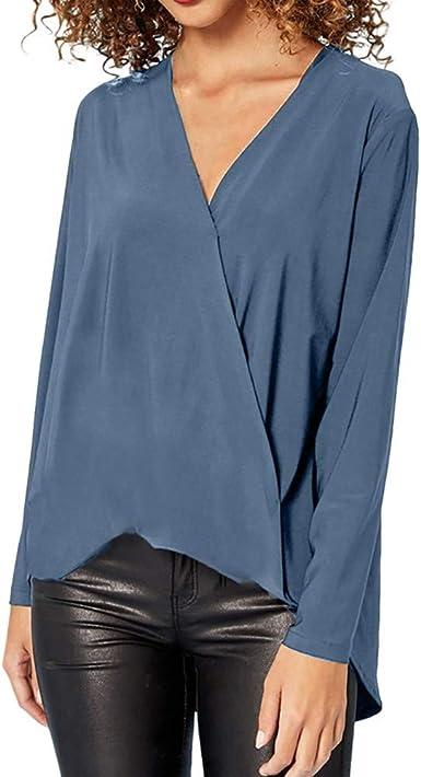 VEMOW - Camisas - Cuello tortuga - para mujer azul celeste 40 ...