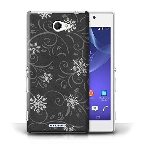 pour Sony Xperia M2 / Noir conception / Collection de Motif flocon de neige