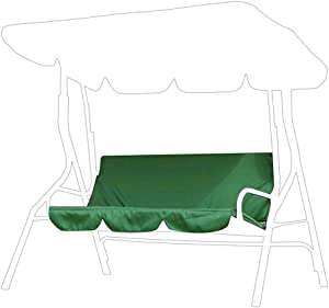 SOONHUA Water Resistant 3 Seater Swing Seat Bench Cushion Cover for Outdoor Garden Hammock, Courtyard Garden Swing Hammock 3-Seat Cover Waterproof Protection Cover 150x150x10cm (Green)