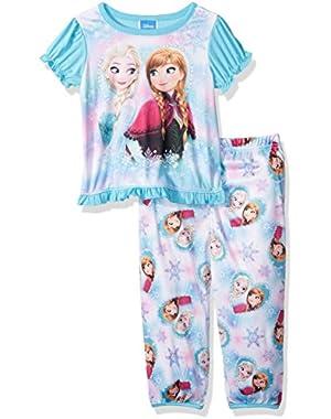 Baby Girls' Frozen Elsa and Anna 2-Piece Pj Set