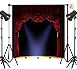 LB 8X8ft Hollywood Stage Vinyl Photography Backdrop Customized Party Graduation Ceremony Photo Background Studio Prop HW08