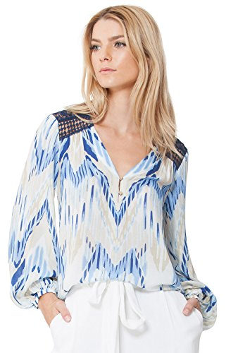 Jordan Kaleidoscope Blouse by Hale Bob