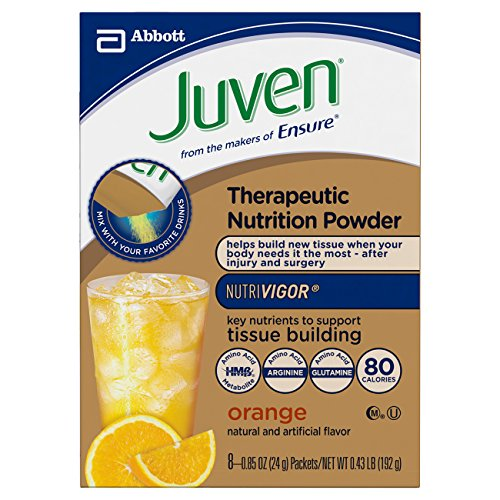 Juven Therapeutic Energy Drink Mix, Orange, 0.85 Ounce (Pack of 48) by Juven