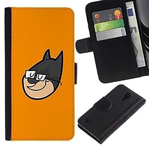 All Phone Most Case / Oferta Especial Cáscara Funda de cuero Monedero Cubierta de proteccion Caso / Wallet Case for Samsung Galaxy S4 IV I9500 // Superhero Face Cartoon Character