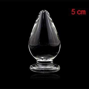 LILFUNNIGHT - Dilatador Anal de Cristal de tamaño Grande, 5 x 10 cm, para