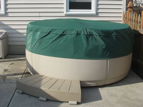 Covermates - Round Hot Tub Cover - Cap 80DIAMETER x 14H - Classic Collection - 2 YR Warranty - Year Around Protection - Green ()