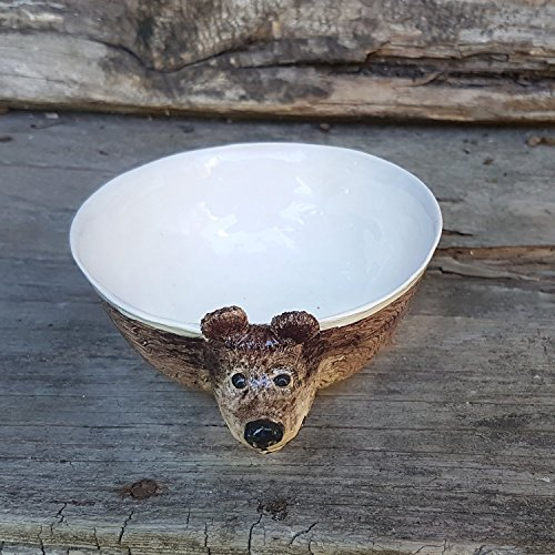 Teddy Bear Ceramic Bowl, Hand built Ceramic bowl, cereal bowl, soup bowl, serving bowl, planter, children tableware ()